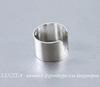 Основа для каффа (цвет - серебро) 10х9,5 мм