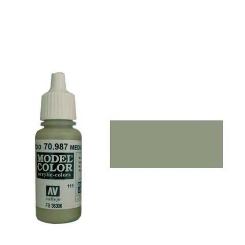 111. Краска Model Color Серый Средний 987 (Medium Grey) укрывистый, 17мл