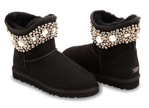 UGG & Jimmy Choo Crystals Black