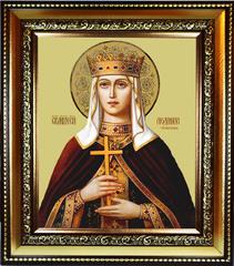 Людмила Чешская Княгиня, Святая мученица. Икона на холсте.
