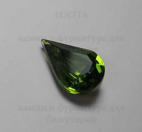 """Ювелирные стразы Preciosa """"Капля"""" Olivine (13х8 мм) ()"""