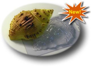 Морская ракушка большая форма для мыла