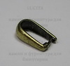 Держатель кулона - простая петелька 10х6 мм (цвет - античная бронза) ()