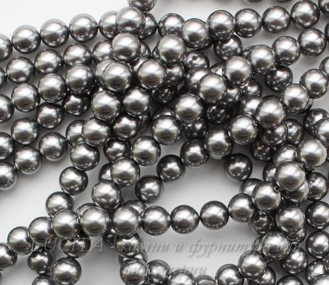 5810 Хрустальный жемчуг Сваровски Crystal Grey круглый 6 мм, 5 шт