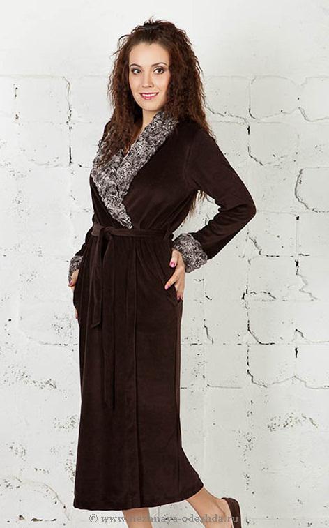 Женский велюровый халат Zimmerli (Женские халаты)