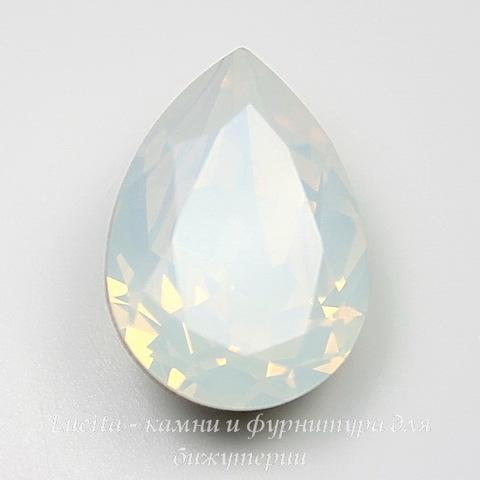 4320 Ювелирные стразы Сваровски Капля White Opal (18х13 мм) ()