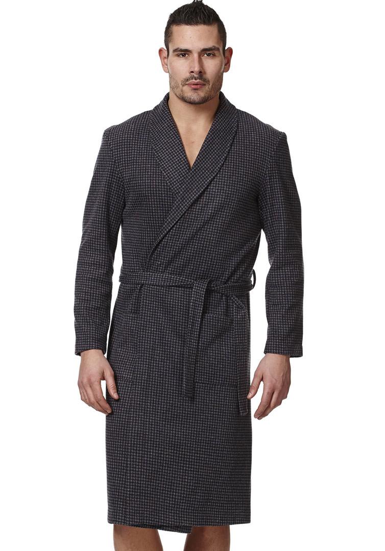 Мужской халат в клеточку Vilfram (Мужские халаты)
