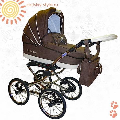 """Коляска Stroller B&E """"Maxima Glory Nubuk"""" 3в1"""