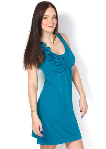 Платье ПВ02 т.изумруд для беременных и кормящих