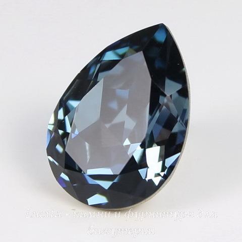 4320 Ювелирные стразы Сваровски Капля Denim Blue (18х13 мм)