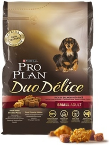 Pro plan duo delice small adult with salmon & rice dog