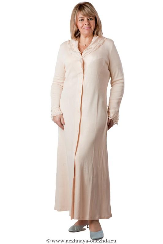 Длинный халат на пуговицах Rossella
