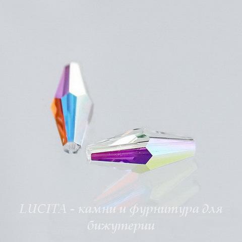 5205 Бусина - биконус вытянутый Сваровски Crystal AB 15х6 мм