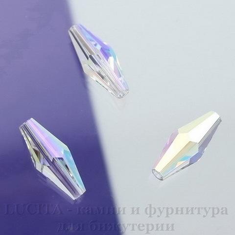 5205 Бусина - биконус вытянутый Сваровски Crystal AB 15х6 мм ()