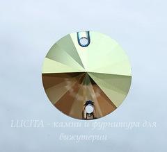 3200 Пришивные стразы Сваровски риволи Crystal Iridescent Green (14 мм)