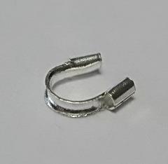 Защита ланки (тросика) от перетирания 5х4 мм (цвет - серебро), 10 штук