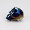 """5750 Бусина """"Череп"""" Сваровски Crystal Metallic Blue 2x 13 мм"""