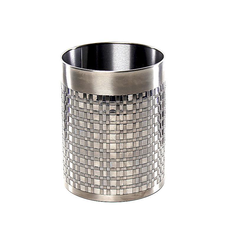 Ведро для мусора Basketweave Silver от Avanti