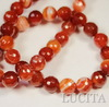 Бусина Агат, шарик с огранкой, цвет - коричневый, 10 мм, нить ()