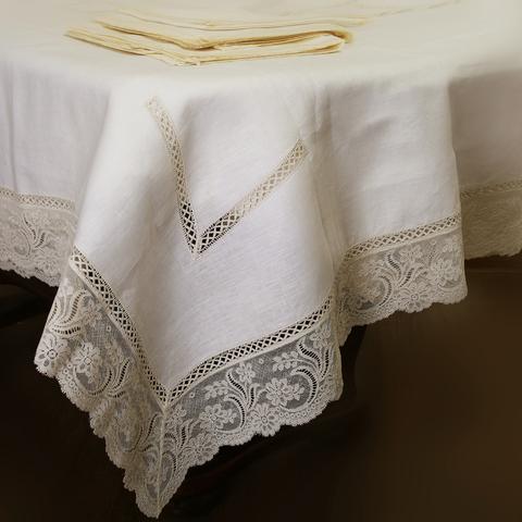 Элитная скатерть и комплект салфеток Trine от Old Florence