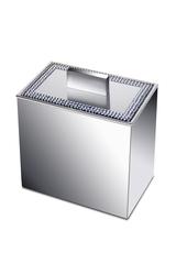 Емкость для косметики большая Windisch 88538CR Shine Light Square