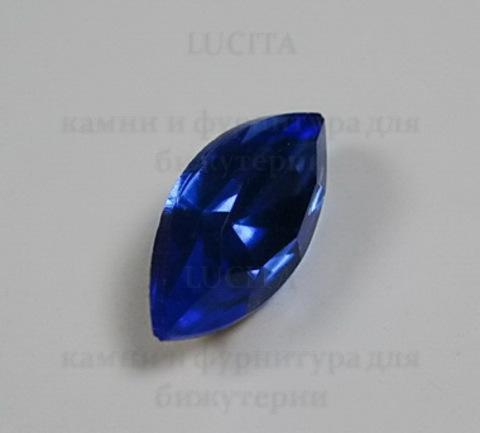 Ювелирные стразы Preciosa Sapphire (15х7 мм) ()