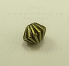 Бусина металлическая - биконус 5х4 мм (цвет - античная бронза), 10 штук ()