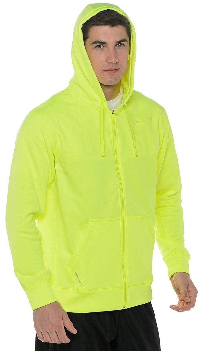 Мужская толстовка Nike KO Full Zip Hoody 2.0 (465786 704) желтая
