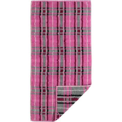 Полотенце 80х150 Cawo Noblesse 1062 Check розовое