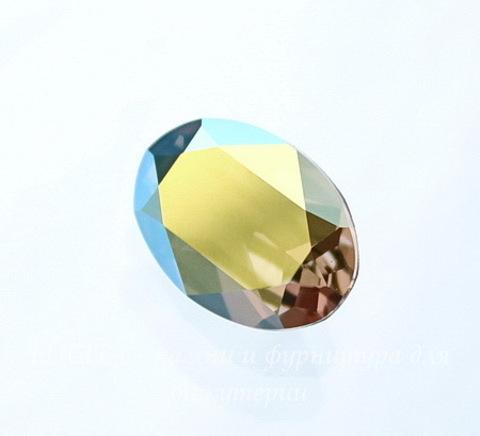 4120 Ювелирные стразы Сваровски Crystal Iridescent Green (14х10 мм)