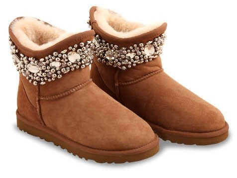 UGG & Jimmy Choo Crystals Chestnut