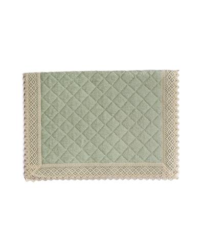 Элитный коврик для ванной Rombetti зеленый от Old Florence