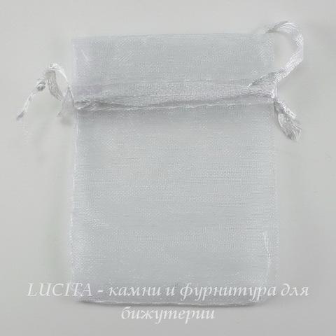 Подарочный мешочек из органзы белый, 7х5 см