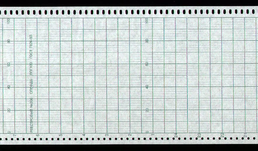 Диаграммная рулонная лента, реестровый № 206 Альфалог  (31,67 руб/кв.м)
