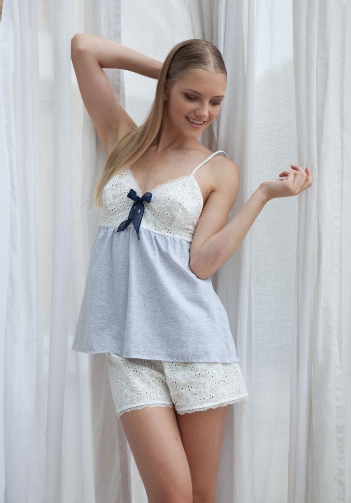 Женская пижама с шортами Rebecca & Bros (Домашние костюмы и пижамы)