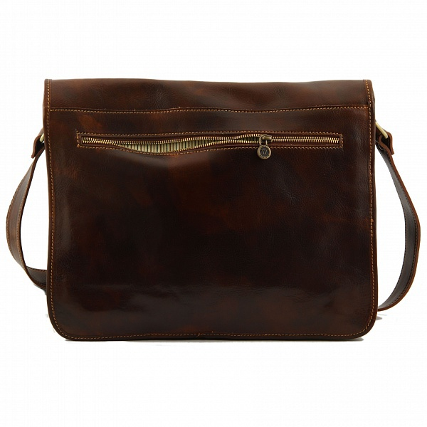 Tuscany Leather Messenger Double