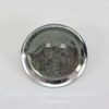 Основа для броши с круглой площадкой 29 мм (цвет - никель)