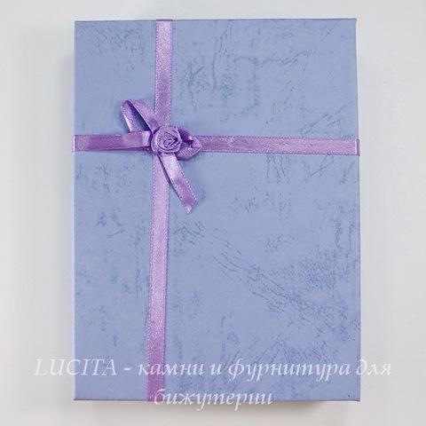 Подарочная коробочка с бантиком (цвет - сиреневый), 155х120х30 мм