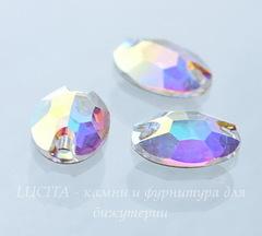 3210 Пришивные стразы Сваровски овальные Crystal AB (10х7 мм)