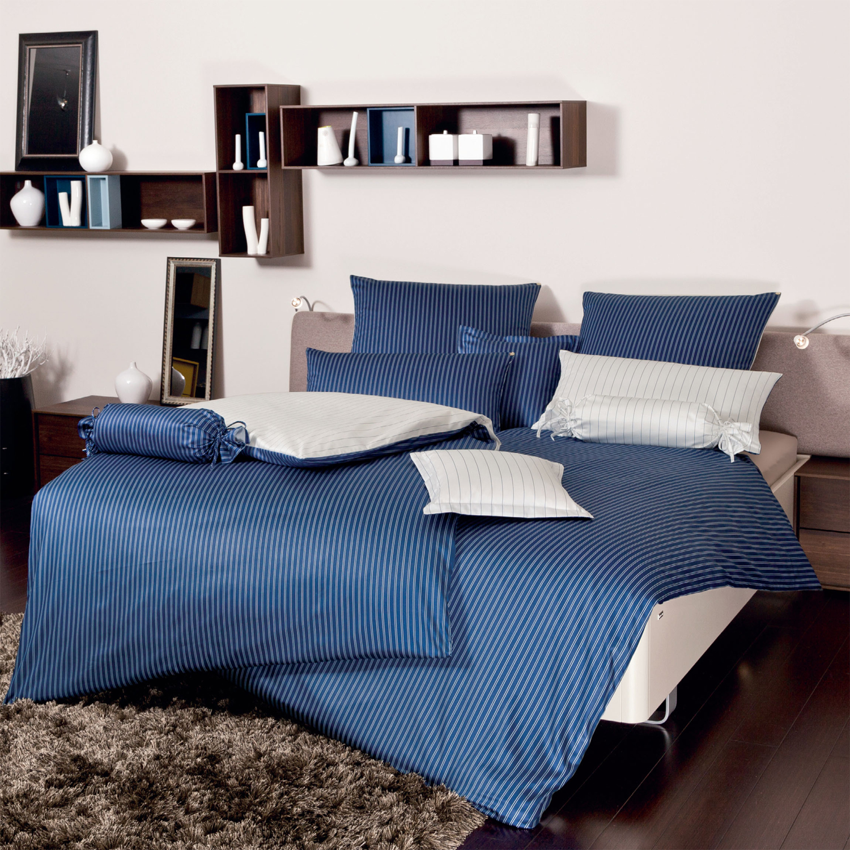 Комплекты Постельное белье 1.5 спальное Janine Modern Classic темно-синее elitnoe-postelnoe-belie-modern-classic-dunkelblau-ot-janine-germaniya.jpg