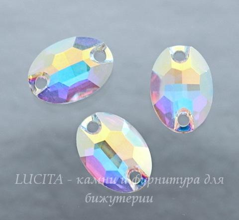 3210 Пришивные стразы Сваровски Crystal AB (10х7 мм)