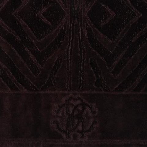 Элитный коврик для ванной Zebrona 833 marrone от Roberto Cavalli