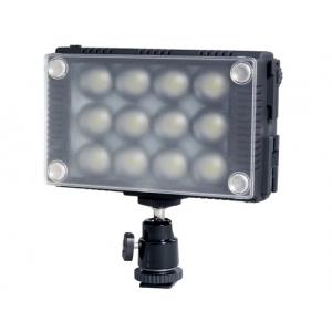 """Светодиодный накамерный свет Pro LED Video Light W12 оснащен повышенным световым потоком 1350Lux с креплением """"горячий башмак"""""""