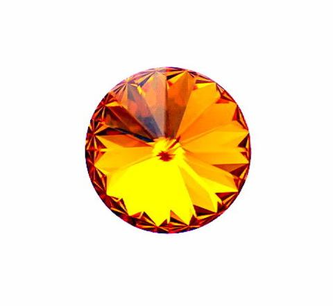 1122 Rivoli Ювелирные стразы Сваровски Tangerine (12 мм)