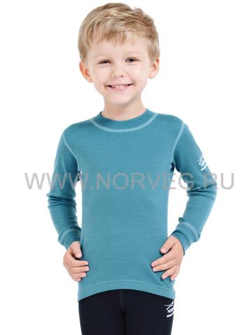 Футболка Norveg Soft  детская с длинным рукавом голубая