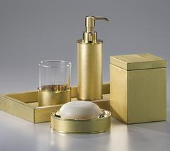 Набор элитных аксессуаров для ванной Metallic Snake Gold от Labrazel