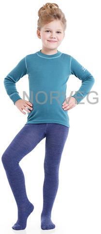 Термобелье колготки Norveg Soft Merino Wool детские синие