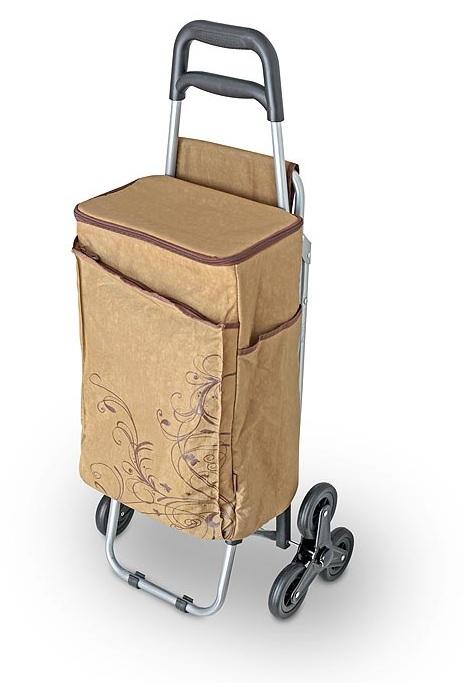 Сумка-холодильник (термосумка) на колесиках коричневая, 28L