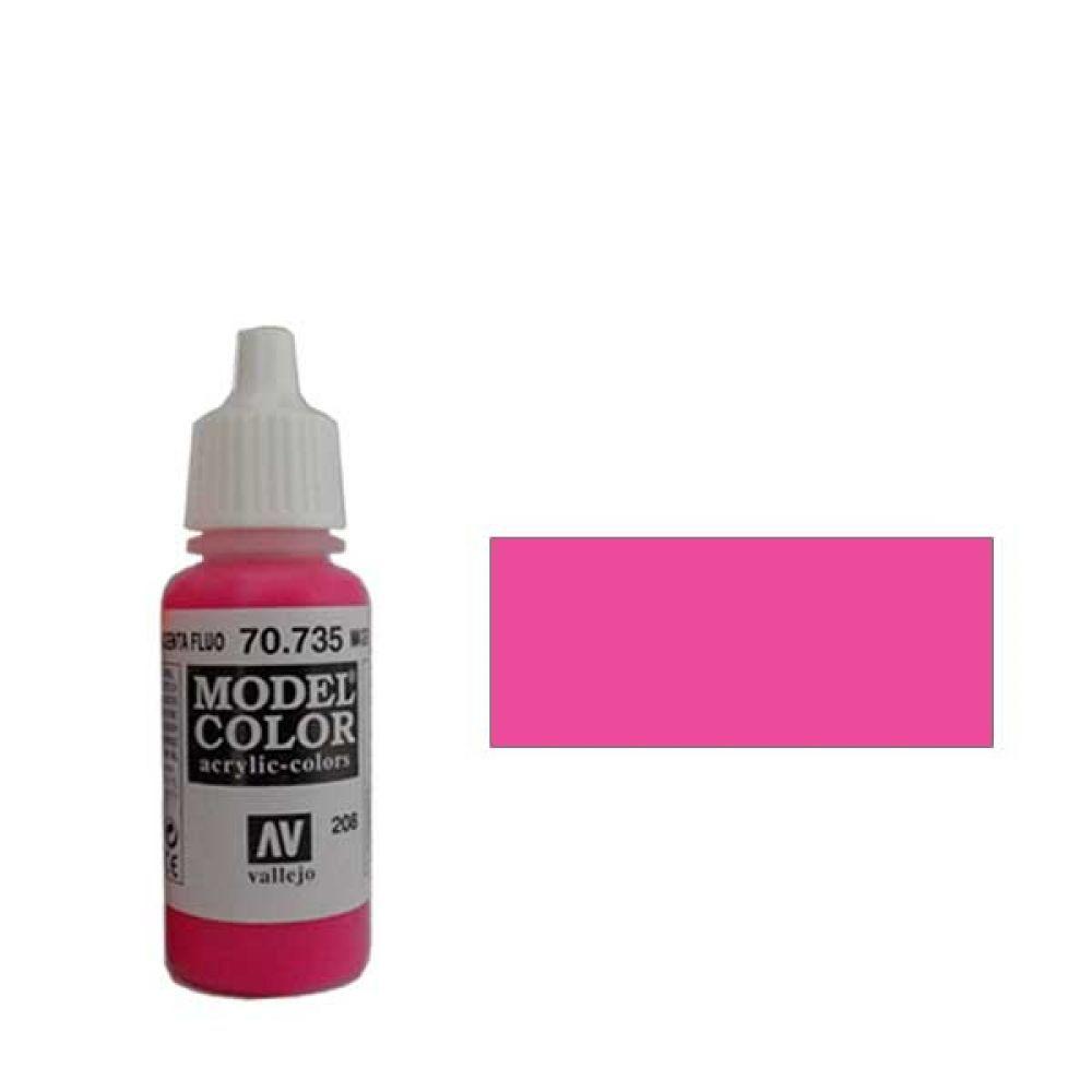 208. Краска Model Color Маджента 735 (Fluorescent Magenta) флуорисцентный, 17мл