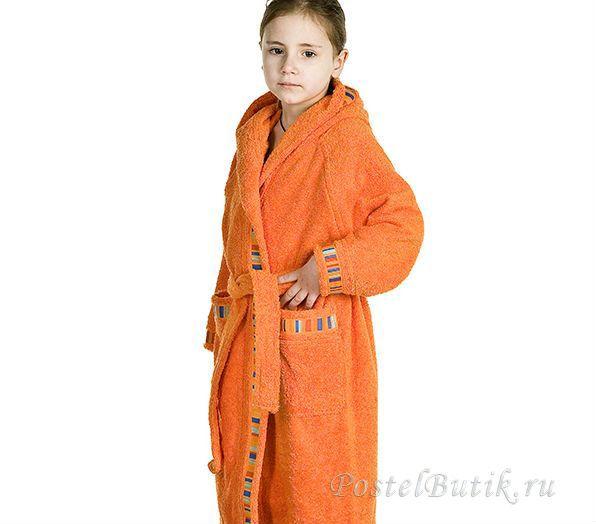 Халаты Элитный халат детский махровый Yupi оранжевый от Caleffi elitniy-halat-detskiy-yupi-orangeviy-ot-caleffi-italiya.jpg